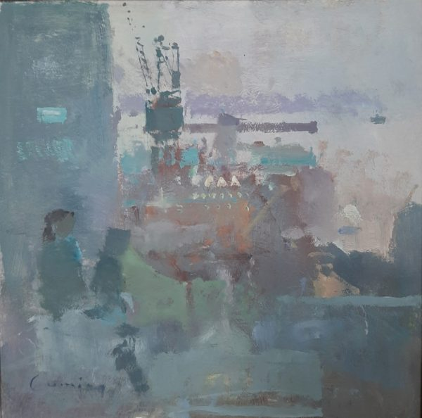 Fred Cuming RA- Boulogn Harbour - Front