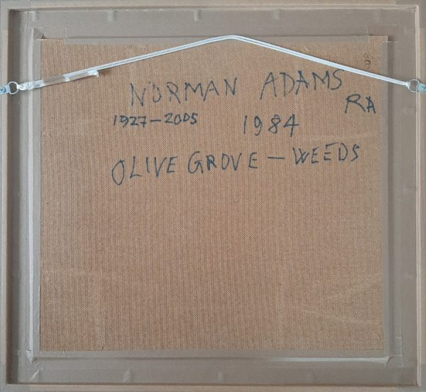 Norman Adams RA - Olive grove-weeds near St Remy - Back