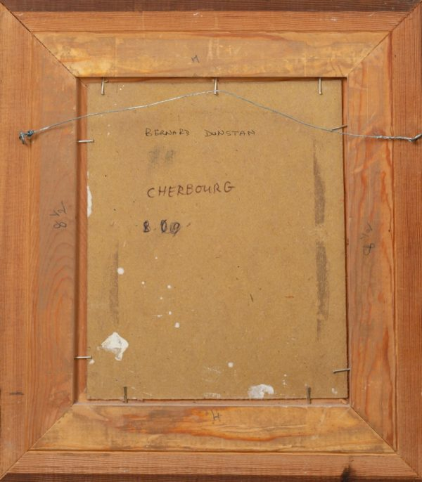 Bernard Dunstan - Cherbourg - Back